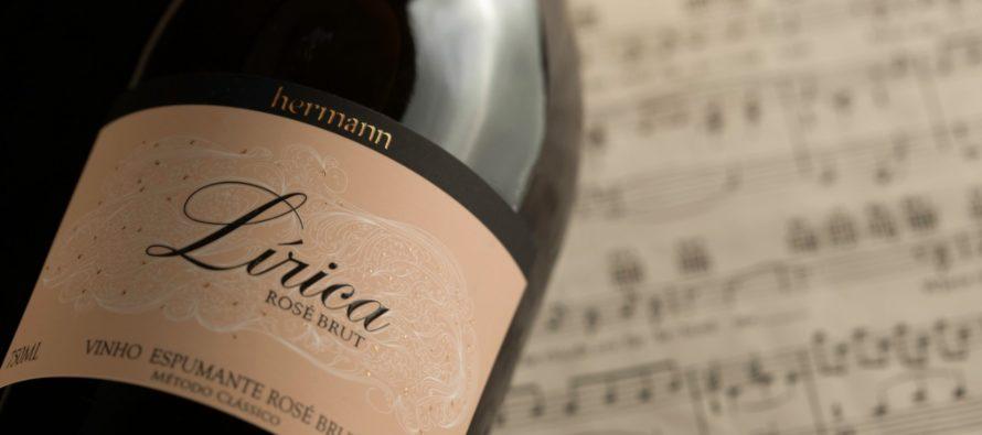 Vinícola Hermann apresenta mais um bom espumante, o Lírica Brut Rosé